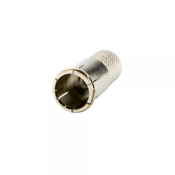 F-Stecker, steckbar, Außenmantel 7,0mm