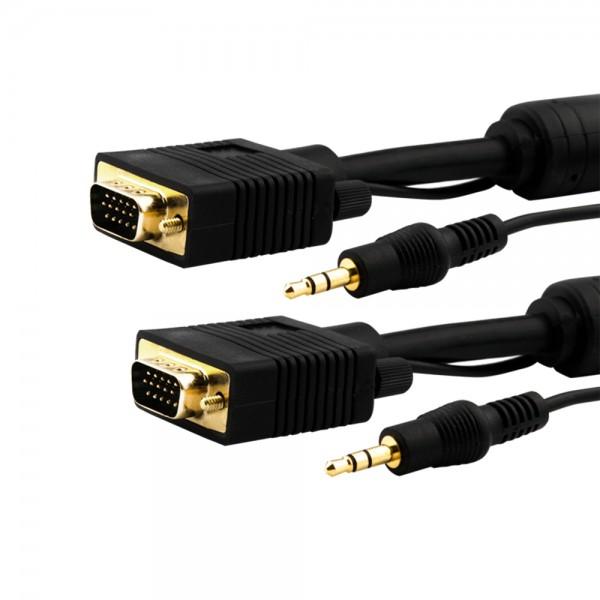 Monitor-Anschlusskabel mit Tonleitung 3,0m