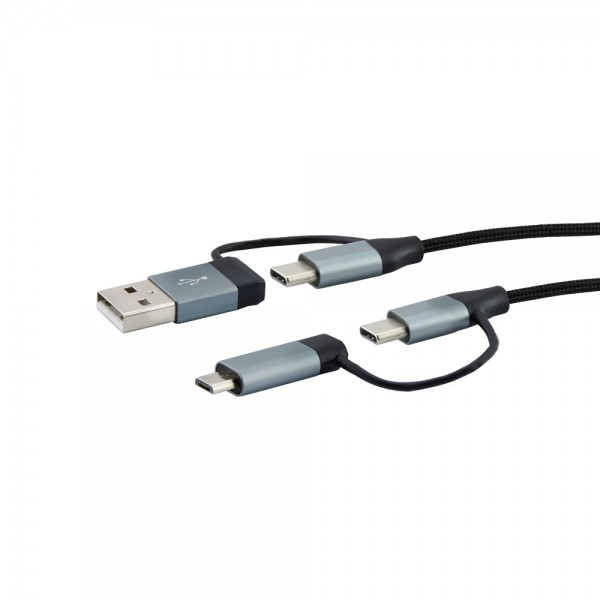 """4-in-1"" USB-Kabel 1,5m"