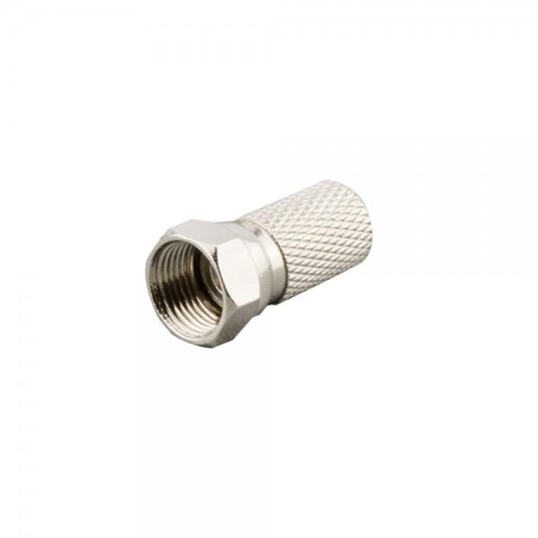 F-Stecker, schraubbar, Außenmantel 7,2mm lose