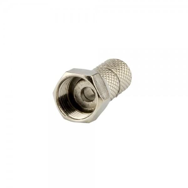F-Stecker, schraubbar, Außenmantel 6,1mm