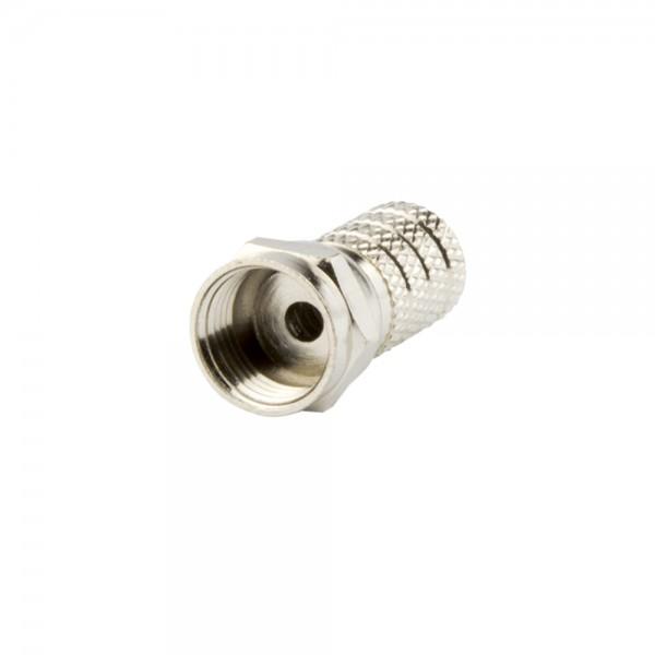 F-Stecker, schraubbar, Außenmantel 4,0mm