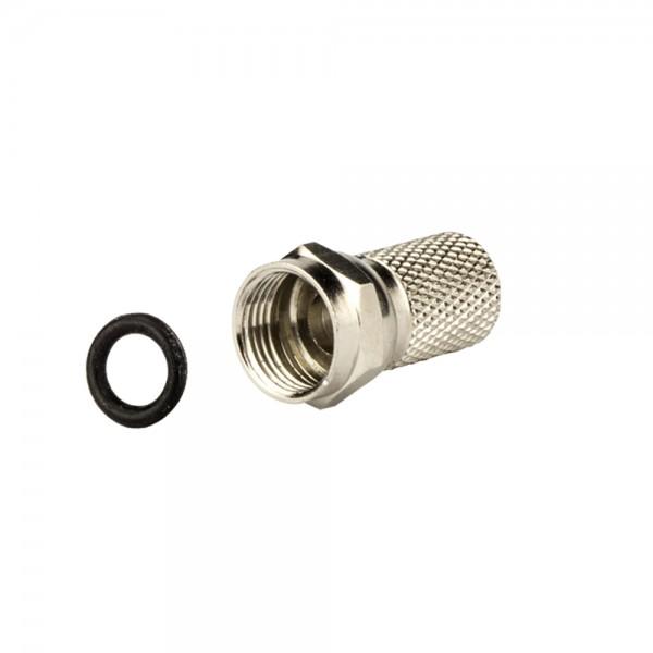 F-Stecker, schraubbar, Außenmantel 7,0mm lose