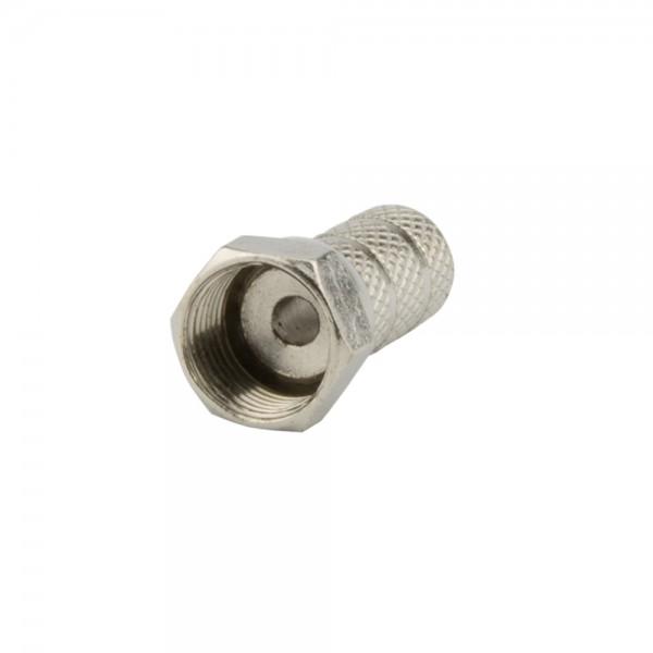 F-Stecker, schraubbar, Außenmantel 5,2mm